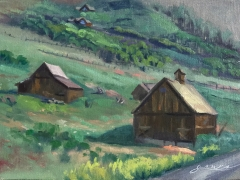 Jones, Hogg Ranch, 9 by 12, oil, $950