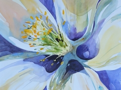 Lanzoni, Kathleen, watercolor, $950, 11 by 14 Columbine