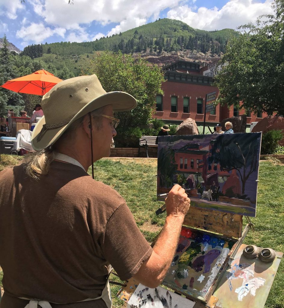 bill meuser painting at telluride plein air festival